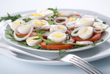 Healthy salad with eggs