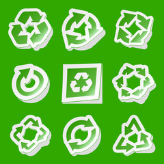 Recycle symbol. Vector set.