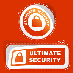 Ultimate security. Sticker set.