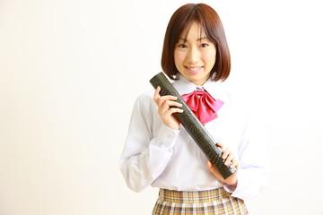 high school graduation/卒業する女子高生