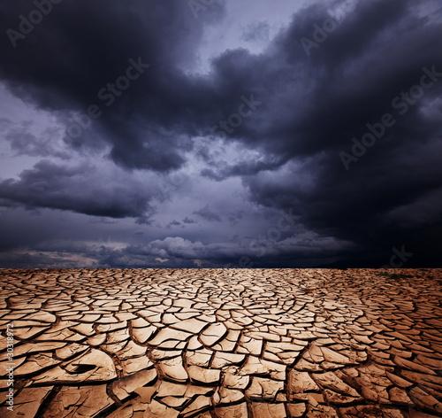 Plexiglas Droogte Drought land