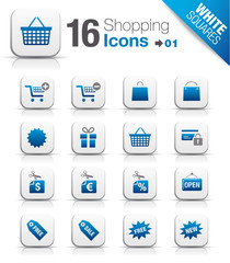 White Squares - Shopping icons 01