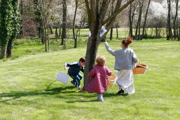 pâques dans le jardin