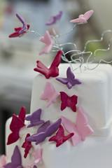 Schmetterlinge auf einer Torte