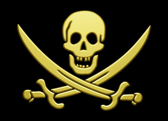 Golden Pirate's Skull