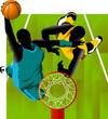 basket and the ball