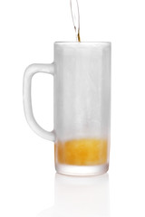 Frosted beer glass