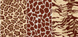 wild animals skins, seamless vector pattern