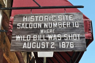 Deadwood Saloon 10 sign
