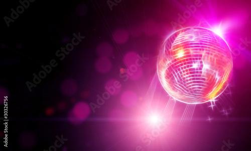 Aluminium Licht, schaduw abstract representation of disco ball