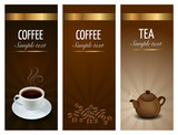 Fototapety Three Coffe And Tea Labels