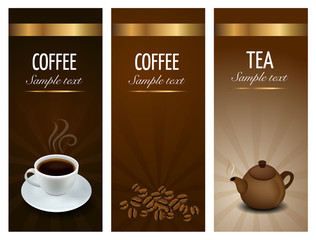 Three Coffe And Tea Labels