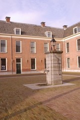 Courtyard of the castle of Woerden in the Netherlands