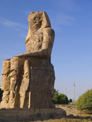 The Colossus of Memnon in Egypt
