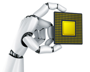 Robot hand with CPU