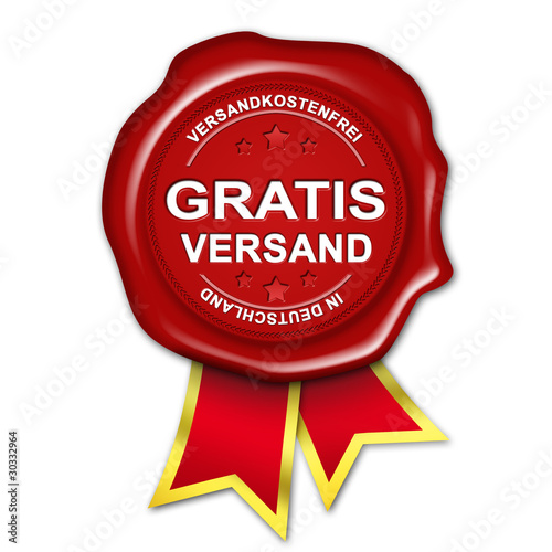 siegel button gratis versand