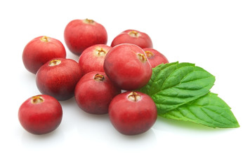 Cranberry with mint