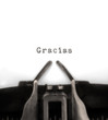 Gracias Typed by Vintage Typewriter