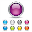 Colored 3d Sphere Buttons