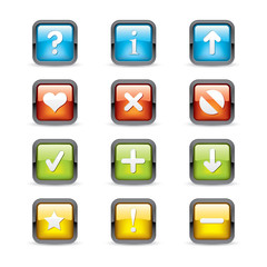Navigation Square Button Icons