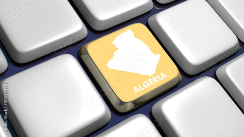 Keyboard (detail) with Algeria map key