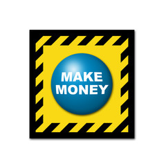 Boton 3D industrial texto MAKE MONEY