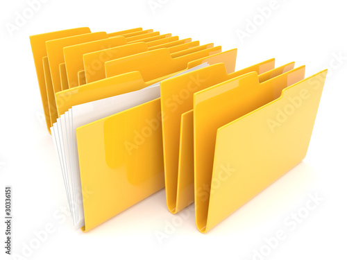 Folder. Directory. File 3D -  Icon isolated