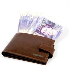 bulging wallet