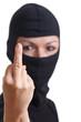 Einbrecher zeigt Finger