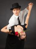 Dancing tango pair