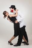 Elegant pair dancing