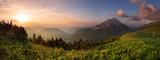 szczyt góry Fatra o zachodzie słońca - Słowacja