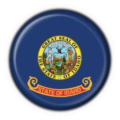 Idaho (USA State) button flag round shape