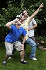 Brothers goofing around