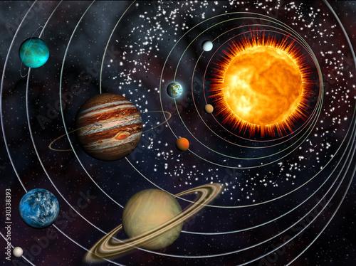 nine planet solar system 3d - photo #4