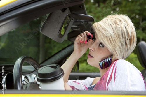 Barbie distracted while driving - 30341149