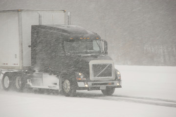 Semi-Truck winter driving