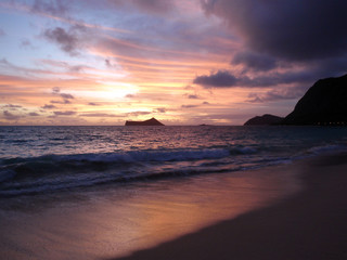 Sky right before the Sunrise on Waimanalo Beach