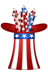 Uncle Sam Hat with Fireworks