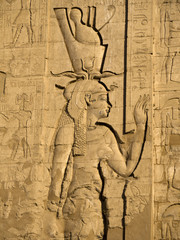 Temple at Edfu in Egypt which is dedicated to the Horus