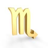 golden scorpio symbol of zodiac poster