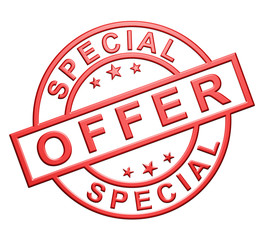 """Special Offer"" Glossy Icon"