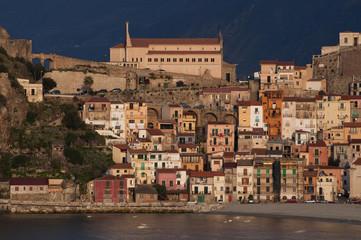 Fishing village Scilla in mediterranean sea, south-Italy