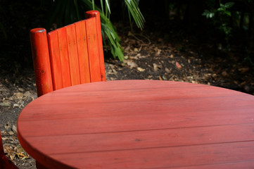 Tropical Red Table Background
