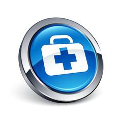 icône bouton internet santé