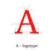 Logo design letter A # Vector