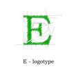 Logo design letter E # Vector