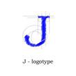 Logo design letter J # Vector