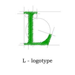 Logo design letter L # Vector