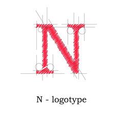 Logo design letter N # Vector